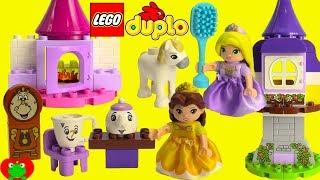 Disney Princess Belle's Tea Party Lego Duplo 10877 and Rapunzel's Tower 10878 Build