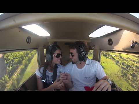 Pedido de casamento em voo! - marriage proposal in flight!