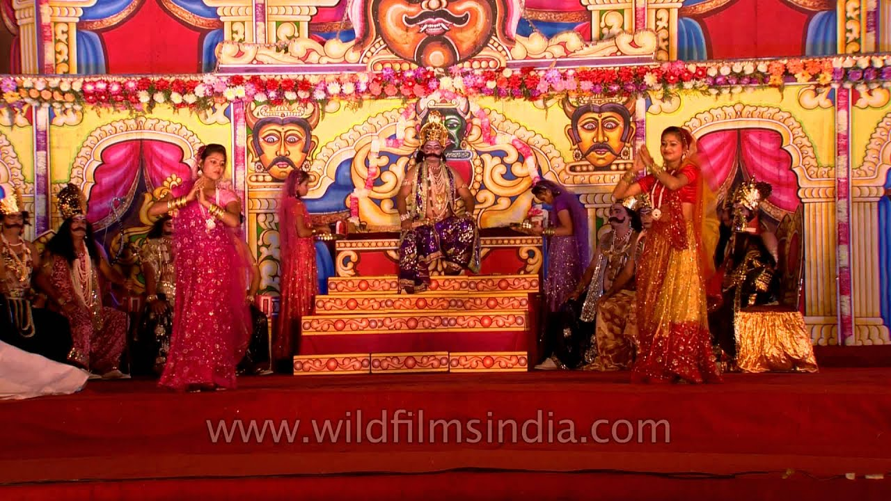 A Scene Showing Ravana Darbar In Ramlila Youtube