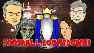 FOOTBALL COUNTDOWN! PREMIER LEAGUE PREVIEW - cartoon! (Parody song by 442oons)