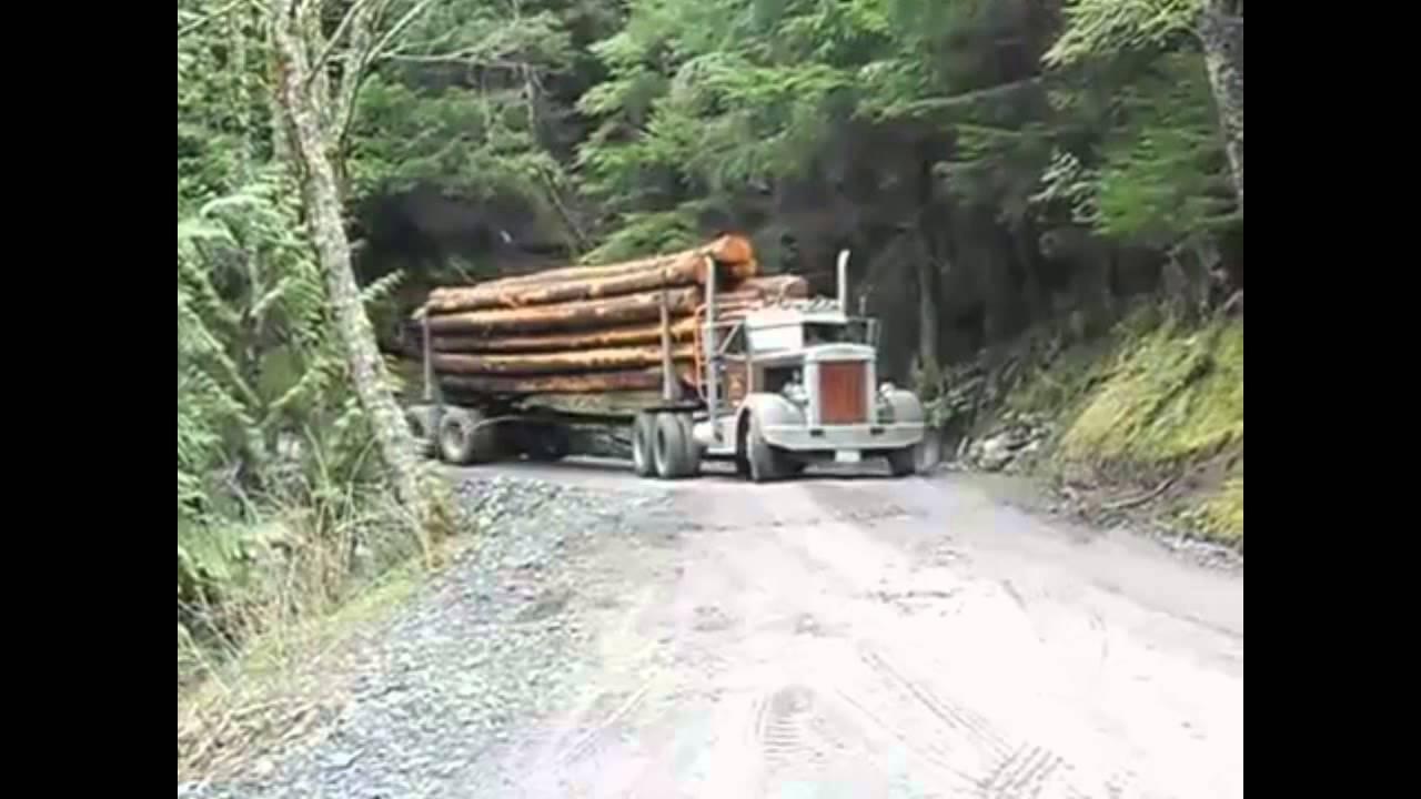 Американские лесовозы - YouTube