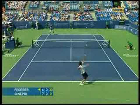 Cincinnati 08: 2R Rog v Ginepri (Highlights Pt 2)