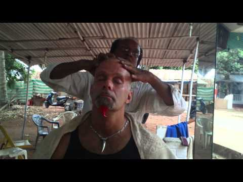 Gavin In India The Indian Haircut And Half Way Thru  Massage   Check This Out video