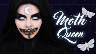 MIDNIGHT MOTH QUEEN 🌙 Halloween Makeup Tutorial (deutsch) - #spooktober