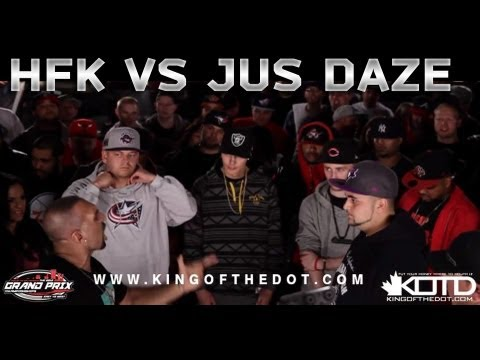 KOTD - Rap Battle - HFK vs Jus Daze