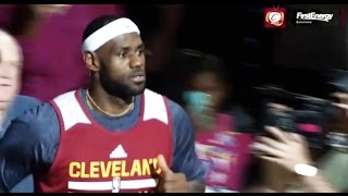 LeBron Receives THUNDEROUS Applause in First Cavs Introduction (Scrimmage 2014)