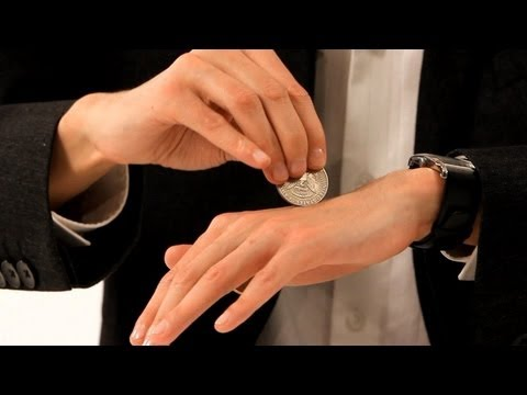 How to Pass a Coin through the Hand - Coin Tricks - YouTube
