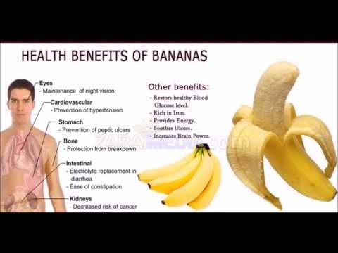 Top Health Benefits of Bananas - Banana fruit nutrition facts and health benefits