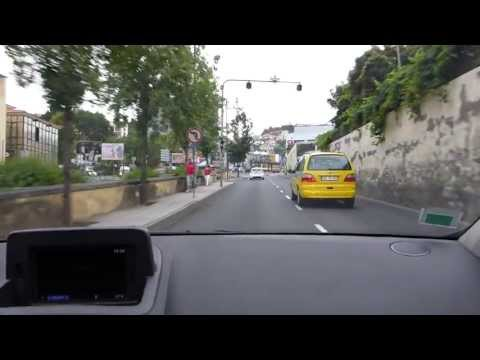 Driving around in Funchal/Madeira the capital of the island.