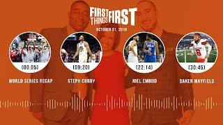 First Things First Audio Podcast(10.31.19)Cris Carter, Nick Wright, Jenna Wolfe | FIRST THINGS FIRST