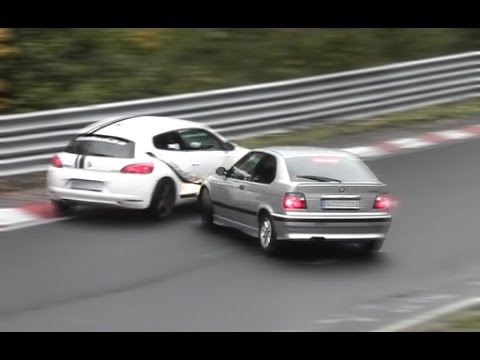Slippery Action Nordschleife Drift, Crash & Lucky Driver Touristenfahrten 13.10.2013