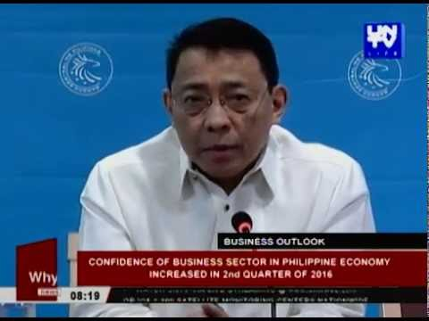 Confidence of business sector in Philippine economy increased in 2nd quarter of 2016