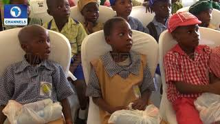 LASG First Lady's Women Foundation Gives Sandals,Socks To School Kids |Dateline Lagos|