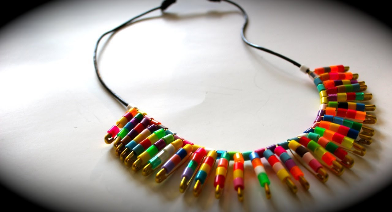 Diy trendy tribal collar necklace sliding knot demo for How to make african jewelry crafts