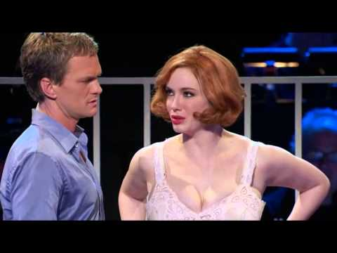 Christina Hendricks singing in her underwear