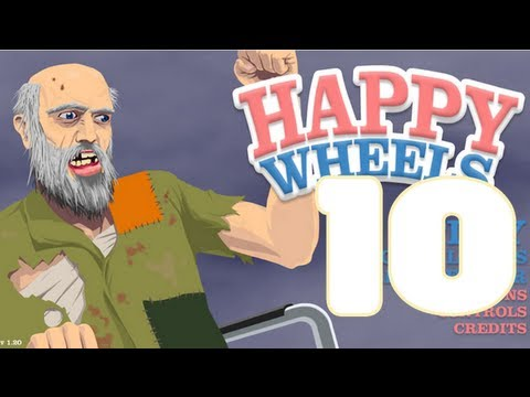 "HAPPY WHEELS - HAPPY WHEELS: Episodio 10 ""Me los paso todos!!!"""