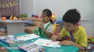 Lớp Học Vui Nhộn Tập 4 - Học Sinh Bá Đạo Ăn Vụng Xúc Xích Trong Giờ Học Tô Màu Hình Học Cơ Bản