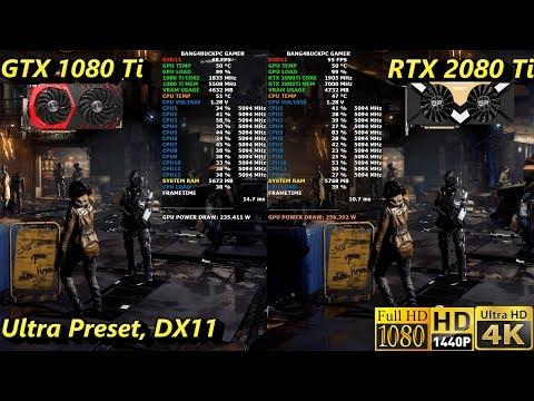 GTX 1080 Ti VS RTX 2080 Ti 1080p, 1440P, 4K Benchmarks   i7 8700K 5.1GHz