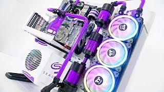 $4500 Ultimate Custom Liquid Cooled Gaming PC Build - Time Lapse Core P5 2018