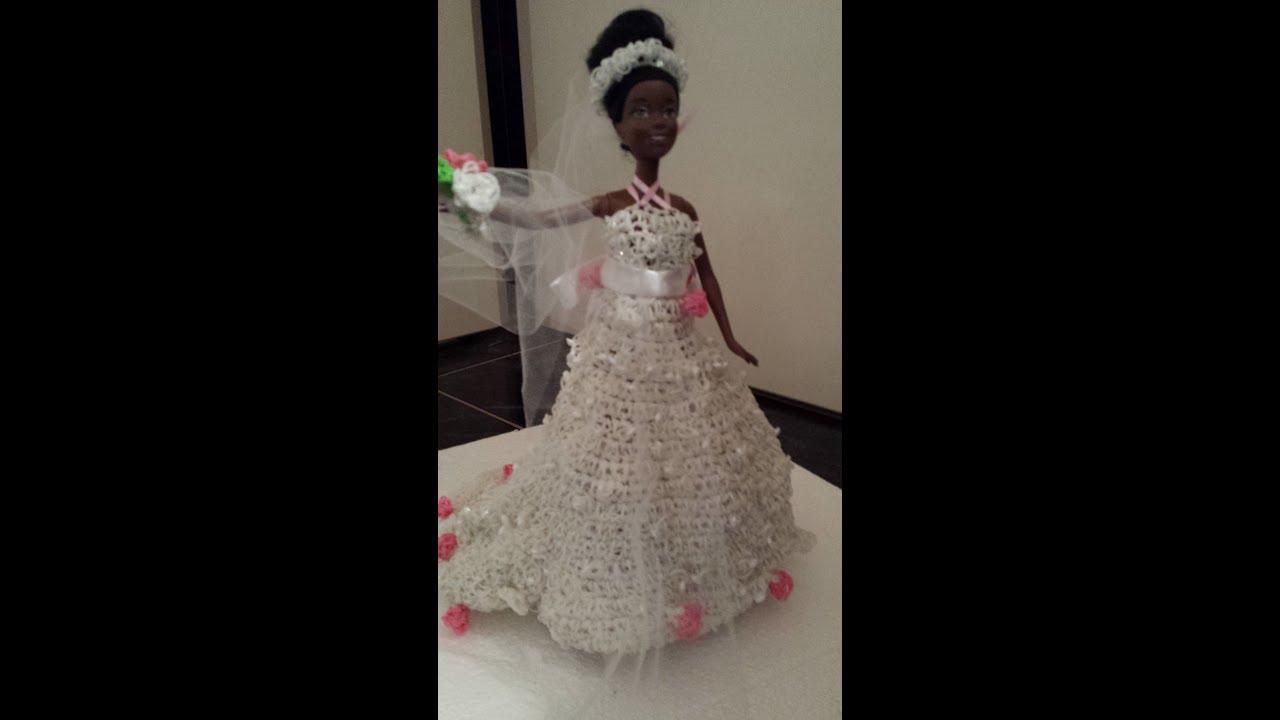 Robe de mari e barbie rainbow loom youtube - Barbie mariee ...
