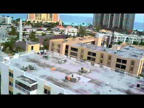 FPV video camera RC Heli T-rex 450. best of Miami scenery. 2800 rpm blade speed fast.
