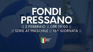 Serie A1M [16^]: Fondi - Pressano 22-29