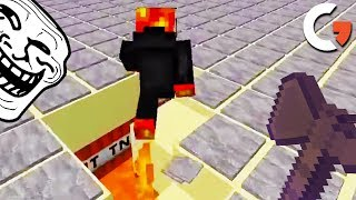 HACKER FORCED TNT RUN OR PERM BAN! (Catching Hacker Games)