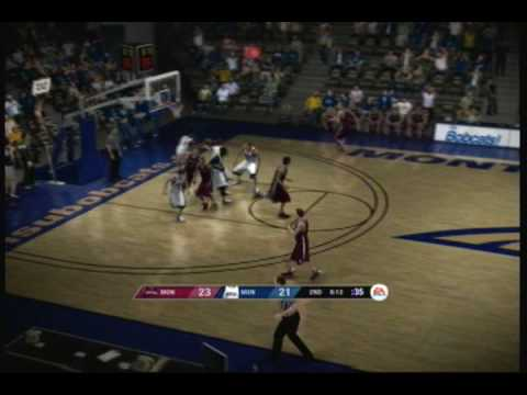 NCAA Basketball 09 (Xbox 360) Montana vs. Montana State Video