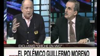 "Canal 26 -EXCLUSIVO en ""Chiche en vivo "" Guillermo Moreno -Parte 4"