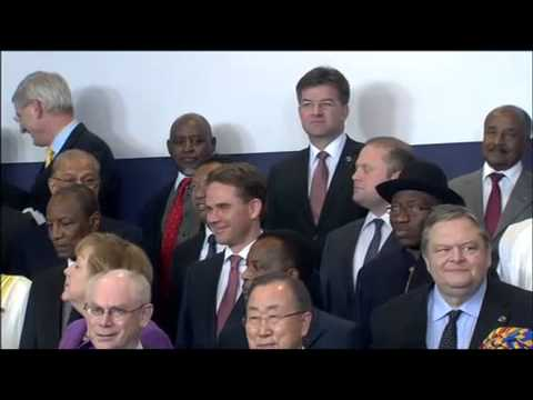 Family photo of the EU-Africa Summit on 2 April 2014 in Brussels