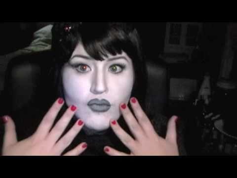 Halloween Makeup Tutorial 6 Black and White Starlet - Black And White Halloween Makeup