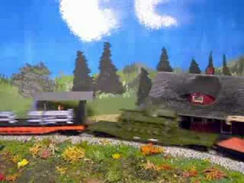 My Model train Layout - Train X-173 Video