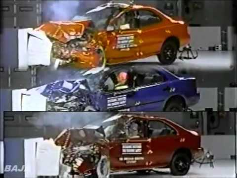 Dateline 1997, 1998, 1999, 2000 IIHS Small Cars Offset Crash Test.flv