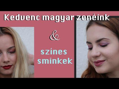 MAGYAR zeneajánló és újabb színes sminkek | Lina és Panni