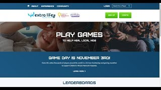 SIGN-UP for: Extra-Life.org! - November 3rd, 2018!