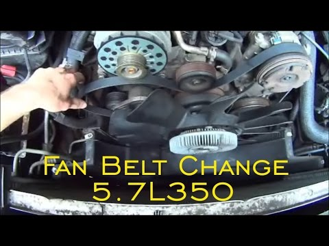 Fan Belt Replace 5.7L 350 . Escalade. Tahoe. Yukon. Avalanche. Sierra. Silverado and Belt Diagram