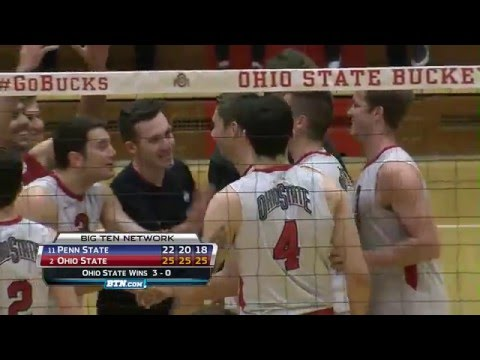 Penn State at Ohio State - Men's Volleyball Highlights