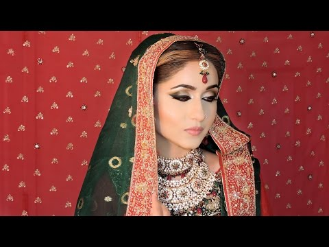 Tradtional Asian Bridal Makeup Tutorial | Pakistani/Indian Bridal Makeup 2014