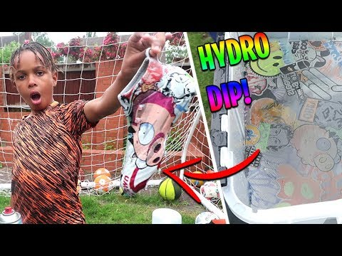 HOW TO HYDRO DIP FOOTBALL BOOTS!! | SOCCER CLEATS
