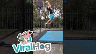 Basketball Trampoline Dunk Fail || ViralHog