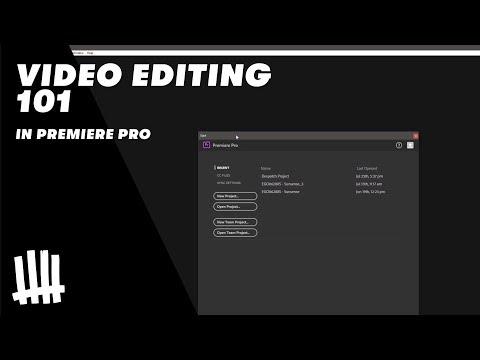 Video Editing 101 in Adobe Premiere