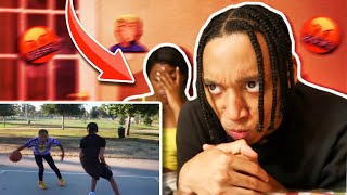 REACTING TO THE 2V2 BASKETBALL VIDEO w/ MY GIRLFRIEND!!