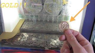 Coin Pusher WON 24 Karat GOLD!