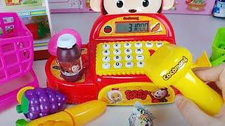 Baby doll mart cash register toys mart play 아기인형과 코코몽 계산대 마트 장난감놀이 - 토이몽