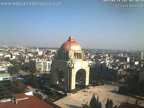 Video Sismo 18 de abril 2014 Temblor Ciudad de México Visto desde Monumento a la Revolución
