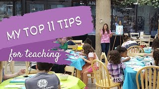 Teaching a Paint 'n Sip - 11 TIPS