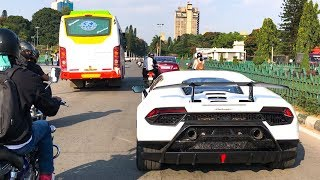 Spotting 3 White Lamborghinis In a Day INDIA (Bangalore) - Aventador, Urus & Performante