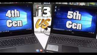 Intel i3-  4th Gen CPU vs 5th Gen CPU   Speed   Battery   Performance!