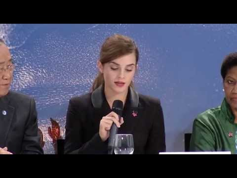 Emma Watson Speech for HeForShe IMPACT 10x10x10 Program at World Economic Forum 2015