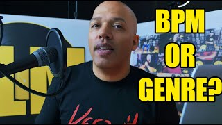 How do you organize your music (bpm or genre) and how long do you play a song? | STK 46